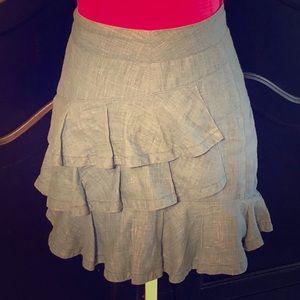 Jean Linen Designer Skirt by nanette lepore.